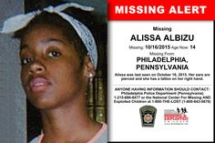 Find missing Alissa Albizu!She is considered an endangered runawayYes, but still a runaway. Missing Child, Missing Persons, Have You Seen, Did You Know, Missing And Exploited Children, Where Are You Now, Amber Alert, Cold Case, Looking For Someone