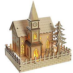 WeRChristmas 22 cm Pre-Lit Wooden Church Christmas Decoration with LED Lights, Warm White WeRChristmas http://www.amazon.co.uk/dp/B00F89ZQXE/ref=cm_sw_r_pi_dp_nQuFwb0NPYTMD