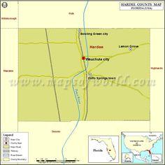 Hardee County Map