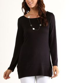 This Black Twist-Cutout Tunic is perfect! #zulilyfinds
