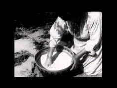 Maggie Tabousee Howard making acorn flour - WordPrcirca 1933 ?- ess | Dulcey Heller | Beading and more…