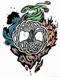 Tree Of Life Tattoo Designs 4 Elements Of Life, Four Elements Tattoo, Avatar Tattoo, Element Tattoo, Tattoo Life, Tattoo Drawings, Body Art Tattoos, Tatoos, Tree Branch Tattoo