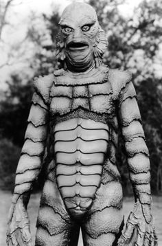 monster Creature from the Black Lagoon.One of my favorite tv shows when I was a kid CLB Retro Horror, Sci Fi Horror, Vintage Horror, Horror Art, Hollywood Monsters, Horror Monsters, Classic Horror Movies, Famous Monsters, Black Lagoon