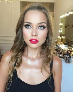 "Today with @martaziebakowska  using @doseofcolors ""Kiss of fire""   #redlipstick#mattered#doseofcolors#kissoffire#makeup#beauty#warsaw#warszawa#poland#polska#hudabeauty#lipsticks#bestmuas#muam#kolorowekredki#makeupslaves#vegas_nay#slave2beauty#muastars#makeupmafia"