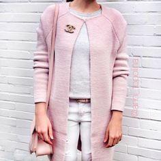 Long mantel rosa
