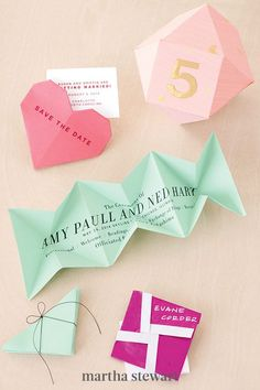 Delight your wedding guests with these string-tied origami programs, whose corners unfold to reveal all the need-to-know info. #weddingideas #wedding #marthstewartwedding #weddingplanning #weddingchecklist Diy Wedding Programs, Ceremony Programs, Trendy Wedding, Summer Wedding, Will Ferrell Wedding Crashers, Diy Origami, Origami Ideas, Glassine Envelopes, Sleepover Party