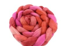 Corriedale Wool Sliver Hand Dyed Pink and Orange Mix 12408 Nuno Felting, Needle Felting, Wool Wash, Weaving Projects, Mulberry Silk, Merino Wool Blanket, Wool Felt, Spinning, Hot Pink