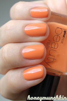 Gina Tricot Beauty - 88 Flirt with me #nailpolish Orange Nail Polish, Gina Tricot, Flirting, Swatch, Manga, Makeup, Beauty, Nail Polishes, Make Up