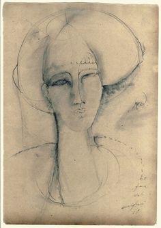 La femme fatale by Amedeo Modigliani. Amedeo Modigliani, Modigliani Paintings, Life Drawing, Drawing Sketches, Art Drawings, Italian Painters, Italian Artist, Famous Artists, Figurative Art