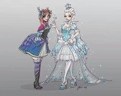 Anna and elsa♥