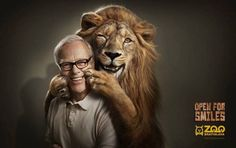 Zoo Bratislava: Lion Open for smiles. Street Marketing, Marketing Tools, Clever Advertising, Advertising Design, Advertising Agency, Advertising Poster, Ads Creative, Creative Photos, Creative Director