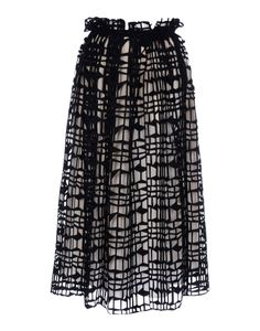 Black and white neoprene cut-out skirt by ROKSANDA ILINCIC #trend #SS14 #fashion #moda #gonna #musthave
