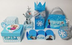 Kit festa frozen, porta brigadeiro, enfeite de mesa, lembrancinhas e mimos para mesa de decoração ..