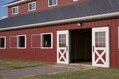 Morton Buildings horse barn in Piedmont, Oklahoma.