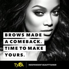 Menáge a Brow available now through Tyra Beauty!! Order at www.Tyra.com/FaceYourFierce