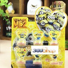 360SHOP  Free shipping 12pcs/2set/lot  Despicable Me  2 stamp set Decoration DIY work best gifts for kid's  $9.90