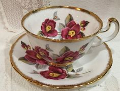 Vintage Royal Adderley Bone China Cup and Saucer  by CupsAndRoses