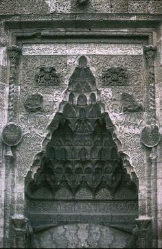 Sivas - Buruciye Madrasa entrance detail