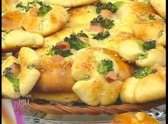 Pão de inhame com recheio de brócolis