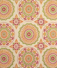 Shop Discount Fabric on Clearance Pattern Art, Print Patterns, Pattern Design, Orange Blinds, Florida Decorating, Kinds Of Fabric, Chair Makeover, Elements Of Art, Fabric Design