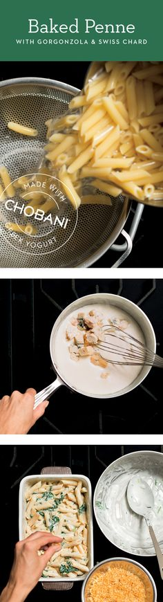 Nothing beats the deliciousness of creamy, dreamy pasta. Lighten up your favorite classic using Chobani Whole Milk Plain! Yummy Snacks, Delicious Desserts, Snack Recipes, Dessert Recipes, Cooking Recipes, Yummy Food, Tea Time Snacks, Food Is Fuel, Dinner Dishes