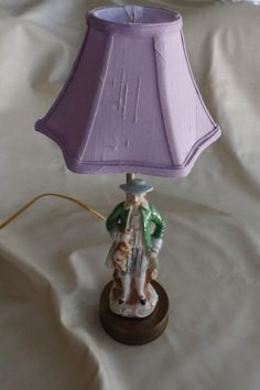 Vintage French Style Figurine Lamp 1940s Works by HapevilleVintage