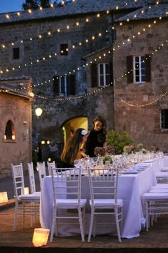 small, intimate, and twinkly lights, exactly what I want my wedding to feel like