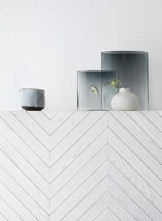 wood + white-washed + zigzag