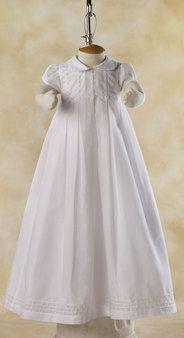Blessing Gown, interesting beading on bodice, nice very little tucks on bottom of skirt