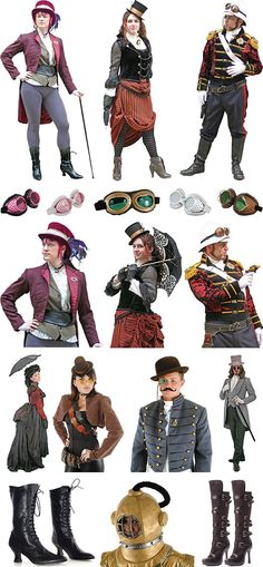 steampunk outfit ideas | Steampunk Costumes and Accessories at Boston Costume