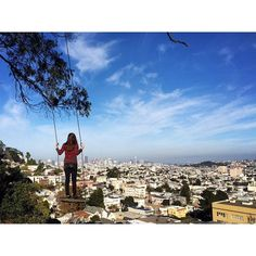 17 Things No One Tells You About San Francisco. Billy Goat Hill Park Rope Swing