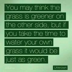 Nurture your own