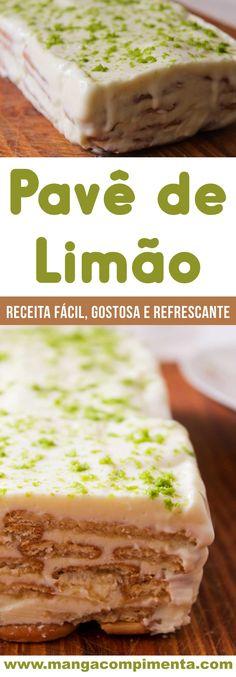 Receita de Pavê de Limão –  uma sobremesa refrescante para a Ceia de Ano Novo #receitas #anonovo #ceia #ceiadeanonovo