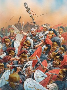 Peter Dennis - César en la batalla de Munda.