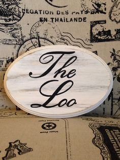 Adorable Bathroom Sign / The Loo (white) by CountryHomemakers on Etsy https://www.etsy.com/listing/201517110/adorable-bathroom-sign-the-loo-white