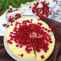 Tvarohovo-jogurtový dort s rybízem (bez mouky) Healthy Baking, Acai Bowl, Camembert Cheese, Watermelon, Food And Drink, Pie, Fruit, Breakfast, Desserts