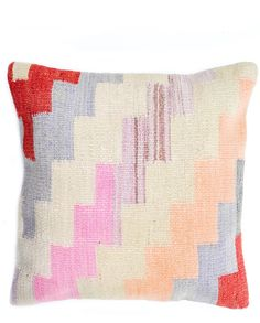 Kilim Pillow by Leif  Would be a cool crochet project