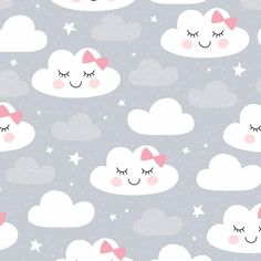 Find Seamless Clouds Pattern Vector Illustration stock images in HD and millions of other royalty-free stock photos, illustrations and vectors in the Shutterstock collection. Baby Bedroom, Baby Room Decor, Cute Wallpaper Backgrounds, Cute Wallpapers, Paris By Night, Kids Room Paint, Clouds Pattern, Elderly Home, Kids Prints