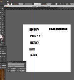 Logo design for www.inkgrph.com involves a lot of fancy fonts, adobe Illustrator and our chief designer Rashaad.