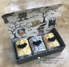 Stamping Mom – Page 2 – Beth McCullough, Independent Stampin' Up Demonstrator Halloween Paper Crafts, Halloween Items, Halloween Cards, Holidays Halloween, Halloween Treats, Christmas Crafts, Candy Crafts, Halloween 2019, Halloween Treat Holders