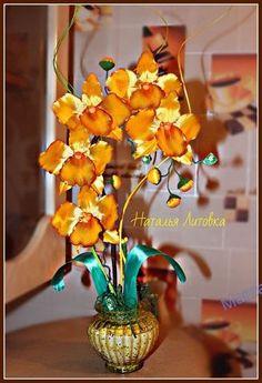 Канзаши мастер-класс орхидеи от Натальи Литовка