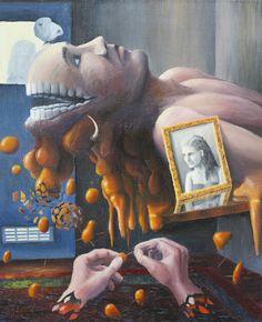 Później kochanie, teraz boli mnie głowa - from http://www.touchofart.eu/en/Jaroslaw-Jasnikowski/jj65-Later-honey-I-m-having-a-headache-right-now/