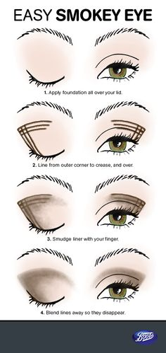 Love this trick! Draw lines in a checkerboard pattern and blend with your finger for a fail-proof smokey eye. Just add mascara and you're good to go.