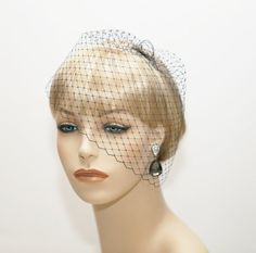 Wedge Veil Mini Birdcage Veil Wedding Veil by JerseyBride on Etsy