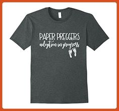 Mens Adoption In Progress Shirt Paper Preggers Baby Feet Mom Dad 2XL Dark Heather - Relatives and family shirts (*Partner-Link)