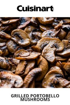 The grilled portobello can also be used as a panini filling. Griddle Recipes, Grilled Portobello, Grilling Sides, White Balsamic Vinegar, How To Cook Mushrooms, I Grill, Stuffed Mushrooms, Stuffed Peppers, Grilled Veggies
