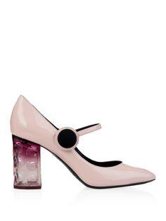 Carnaby patent-leather block-heel pumps | Nicholas Kirkwood | MATCHESFASHION.COM