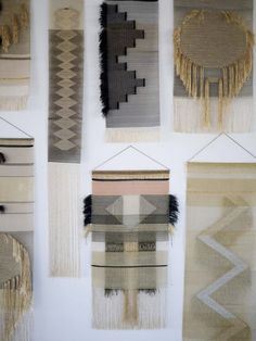 The Native Line Wall Hangings are a bespoke collection inspired by indigenous woven craftwork, mixing natural fibers and shimmers of gold.