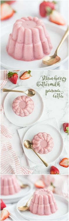 Strawberry Buttermilk Panna Cotta: sweet, summery, and so simple to make!