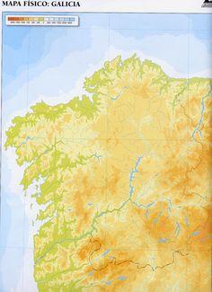 A continuación realizaremos un análisis del relieve de cada comunidad autónoma, empezando por el noroeste. La mayor parte de la superficie de Galicia está ocupada por el Macizo Galaico, que surgió en el Paleozoico y que en el Terciaro se fracturó y se abombó, componiéndose de un sistema de fallas.